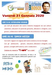 Locandina Festa don Bosco 2020_31 gennaio 2020