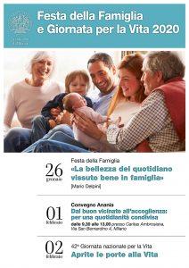 Locandina Vita e famiglia 2020_Diocesi di Milano