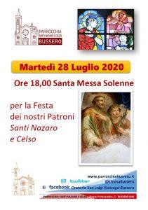 Locandina Festa Patronale 2020