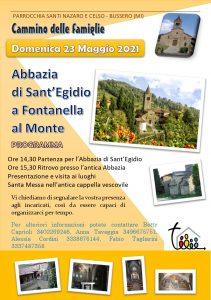 Locandina_Incontro Gruppo Famiglie_Abbazia Sant'Egidio_23 Maggio 2021