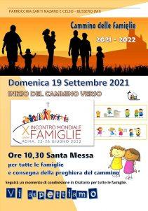 Locandina_Cammino famiglie_INIZIO_ 19 Settembre 2021