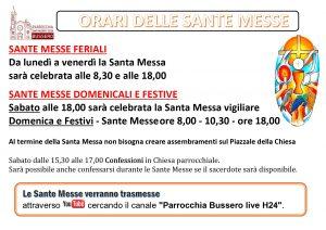 Locandina_ORARI DELLE SANTE MESSE_orizzontale
